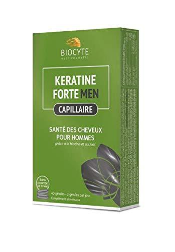 Biocyte Kératine Forte Sante des Cheveux pour Homme Multi-Vitamines et Minéraux 40 Gélules