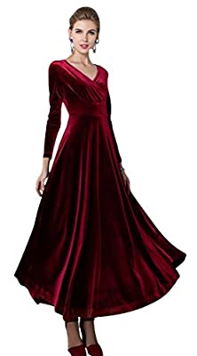Elegant , retro , Gorgeous, cute winter autumn long dress Material: gold velvet, feel good, soft and comfortable breathable Suit for Evening Party, Prom and Wedding. Please check the measurement chart carefully. Because of different producing batches...