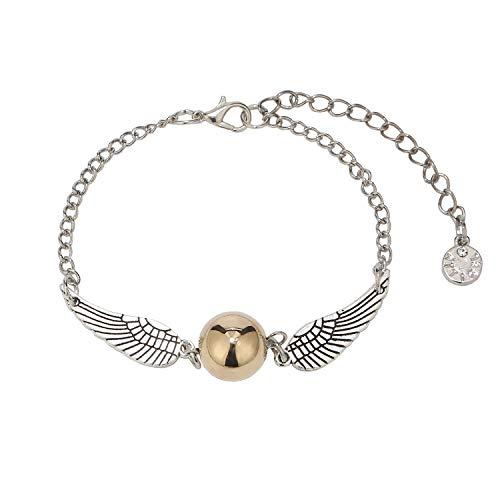 LEGITTA Goldener Schnatz Armband Damen Schmuck mit Flügel Antike Silber Kette mit Anhänger...