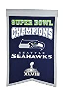 This uniquely shaped banner commemorates the great NFL franchises that have achieved the ultimate level of glory by being crowned NFL/Super Bowl Champions. Constructed of heavy wool fabric with embroidery and applique design detail. Actual size of th...