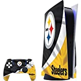 Skinit Decal Gaming Skin Compatible with PS5 Console and Controller - Officially Licensed NFL Pittsburgh Steelers Design (Electronics)