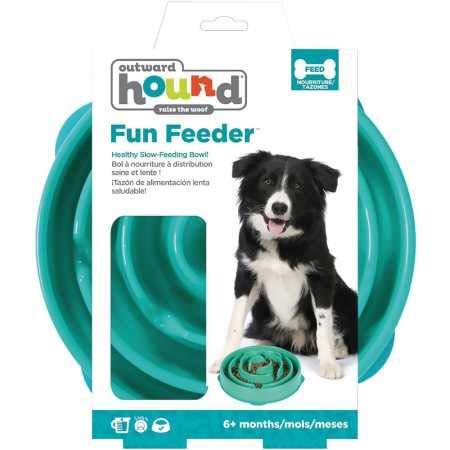 Outward Hound Fun Feeder Drop Teal