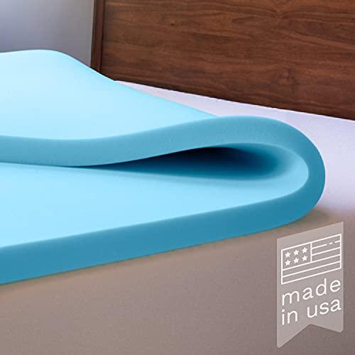 ViscoSoft Memory Foam Mattress Topper Twin XL - Made in USA 3 Inch Extra Long Reflex Gel Mattress Pad