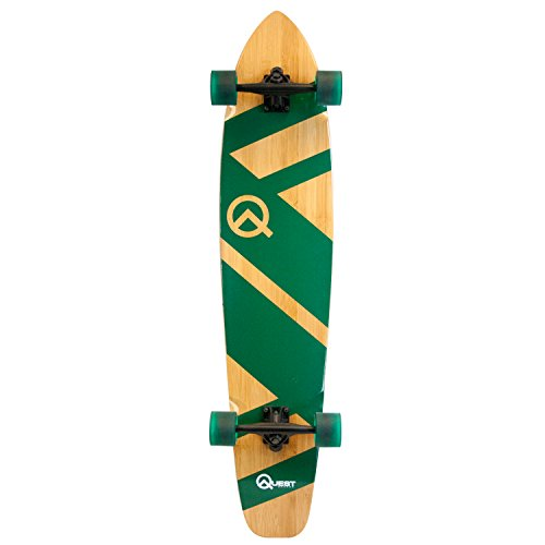 Quest The Super Cruiser Green Artisan Bamboo and Maple 44' Longboard Skateboard