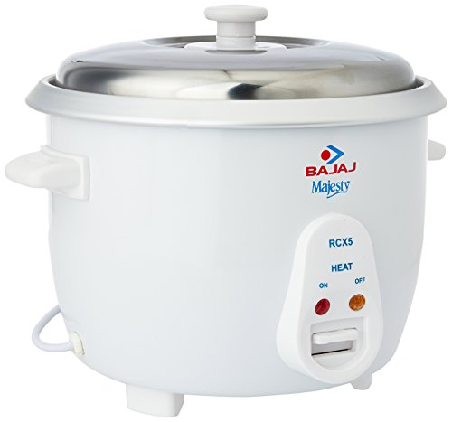 Bajaj 550W Majesty New RCX 5 Multifunction on Heating Coil Rice Cooker, 1.8L, White