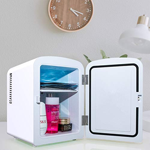 AstroAI Mini Fridge 4 Liter/6 Can AC/DC Portable Thermoelectric Cooler and Warmer for Skincare, Foods, Medications, Home and Travel, White 8
