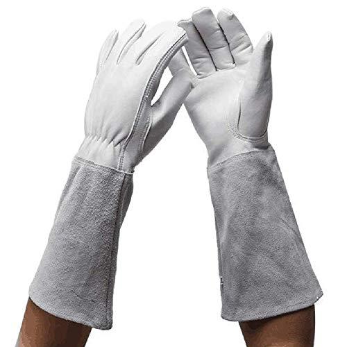 Guanti da giardinaggio per donne e uomini, guanti di protezione del lavoro, guanti in pelle...