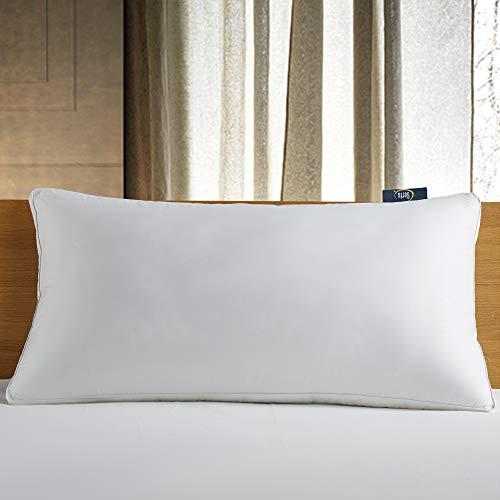 Serta 300 Thread Count White Down Fiber Bed Side Sleeper Pillow, King
