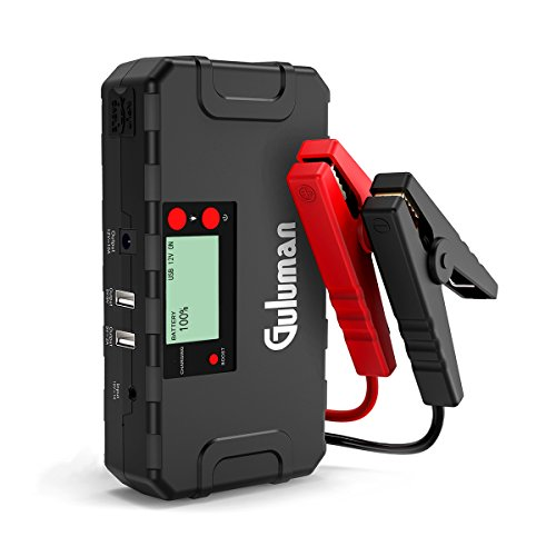 Batteria Guluman di avviamento da 800A 18000mAh per auto, kit base per avviare l'auto con batteria da 12V, power bank portatile per caricare il cellulare con schermo LCD