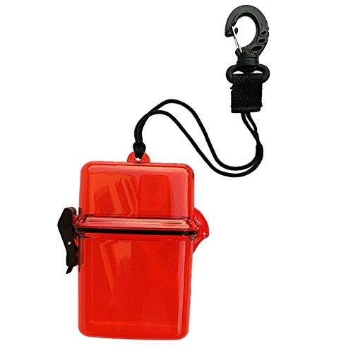 Unbekannt MagiDeal wasserdichte Aufbewahrungsbox Mini Drybox Trockenbox Plastikbox Mehrzweck Box Beach Behälter für Camping Bootfahren Angeln Schwimmen Tauchen Schnorcheln - Rot