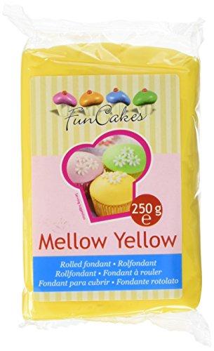 FunCakes Fondant, gelb, 1er Pack (1 x 250 g)