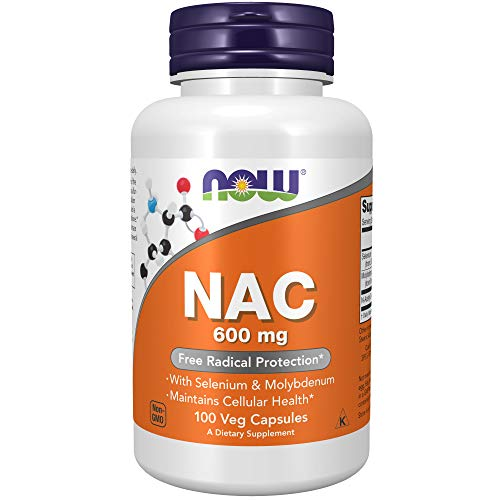 NOW Supplements, NAC (N-Acetyl Cysteine)600 mg with Selenium...