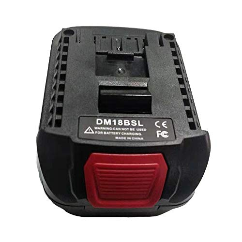 Battery Adapter DM18BSL, Converter for Milwakee 18V M18 and for Dewalt 20V Max Li-ion Battery DCB200 DCB201 DCB203 Convert to for Bosch 18V Lithium Tool Battery BAT609 BAT618