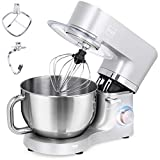 Best Choice Products 6.3qt 660W 6-Speed Multifunctional Tilt-Head Stainless Steel Kitchen Stand Mixer w/ 3 Mixing Attachments, Scraper Spatula, Splash Guard - Silver