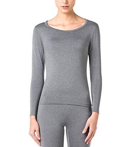 LAPASA Donna Maglia Termica - Ti Tiene al Caldo Senza Stress- T-Shirt Invernale Maniche Lunghe L15...