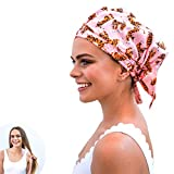 Luxury Eco Shower Cap For Women - Made From Recycled Materials. Stylish, Sustainable and Cute Guaranteed! Reusable Shower Cap. Perfect Eco Friendly Gift