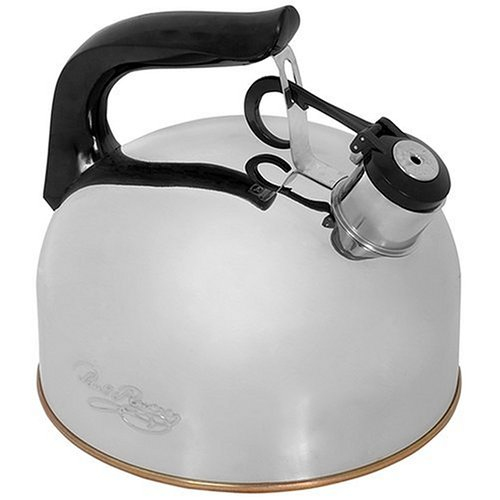 Revere Whistling Tea Kettle, 2-1/3-Quart, Silver