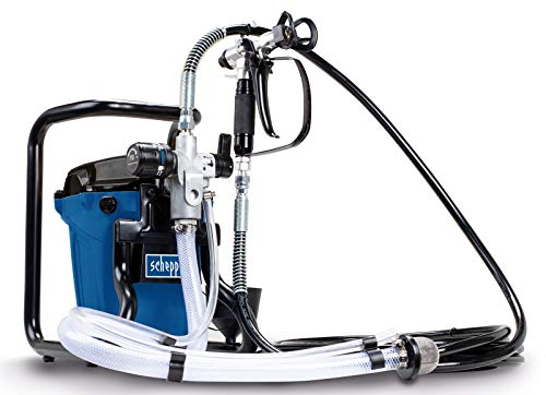 Scheppach ACS3000 Airless système de pulvérisation de peinture 750W max 207bar 7.6m de rayon, débit 1.1L/min, pistolet système de peinture