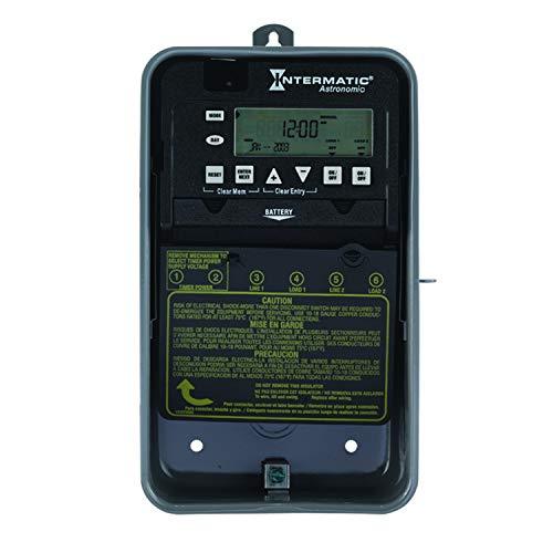 Intermatic ET8215C 7-Day 30-Amps 2XSPST OR DPST Electronic Astronomic Time Switch, Clock Voltage 120-Volt-277-Volt NEMA 1, 2-Circuit/30-Amp, Color