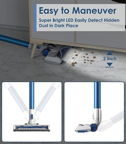 ORFELD Cordless Vacuum Cleaner with 1.4L Big Dustbin, Unique-Design Storage Base Hardwood Floor Vacuum, Cordless Stick Vacuum for Pet Hair 18