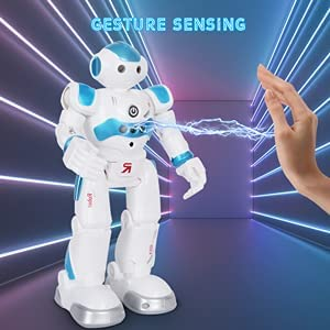 BBdis RC Robot Toy, Gesture Sensing Remote Control Robot for Kids Intelligent Programmable Robot with Infrared Controller Singing Dancing & Walking Robot for Girl Boy 3-12 Year Birthday Gift Present 13