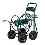VINGLI Garden Hose Reel Cart, 4-Wheel Portable Residential Hose Reel Cart, Hose Guide System, for Family Yard, Garden Industrial and Farm