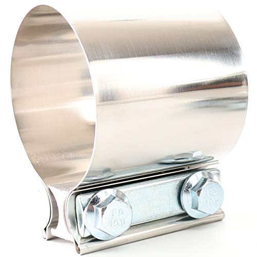 TOTALFLOW 2' TF-JB56 304 Stainless Steel Butt Joint Exhaust Muffler Clamp Band-2 Inch