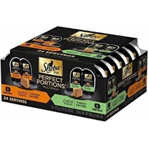 Sheba Premium Cat Food Perfect Portions Multipack – chicken Entree and Turkey Entree 12-twin packs