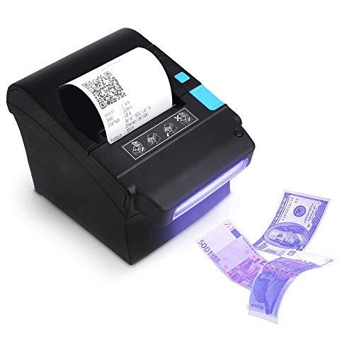 Stampante termica 80mm validatore di banconote 300mm/s, MUNBYN stampante per ricevute di banconote...