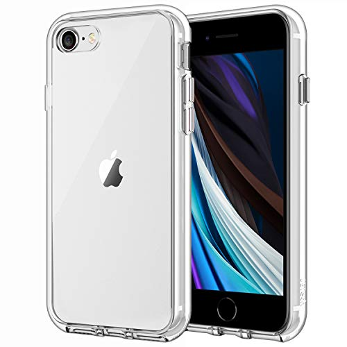 JEDirect iPhone SE 第2世代、 iPhone7 iPhone8 ケース バンパー 衝撃吸収 傷つけ防止 (クリア)