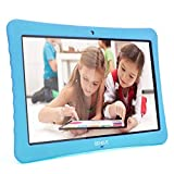 10 Kids Tablet, 10.1' Inch 1080p Full HD PC Android 7.0, 2GB+32 GB, Dual Camera Front 2MP+ Rear 5MP, Bluetooth and WiFi Blue Kid-Proof Case(Blue)