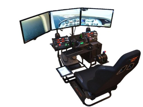 Volair Sim Universal Flight or Racing Simulation Cockpit Chassis with Triple Monitor Mounts 4