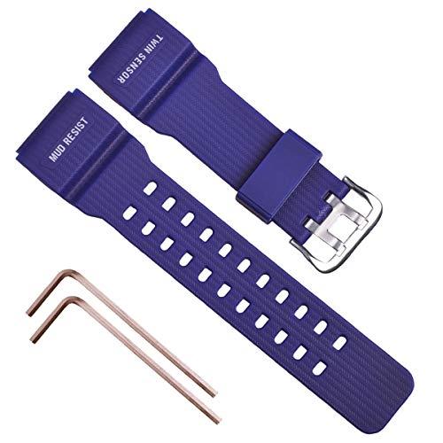OliBoPo Uhrenarmband für Casio G-Shock Master of G Mudmaster Twin Sensor Sportuhr GG-1000/GWG-100/GSG-100 blau