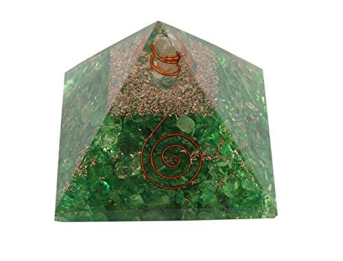 Aatm Energy Generator Green Aventurine Orgone Pyramid for EMF Protection Chakra Healing Meditation with Crystal and Copper (3 and 3 Inches)