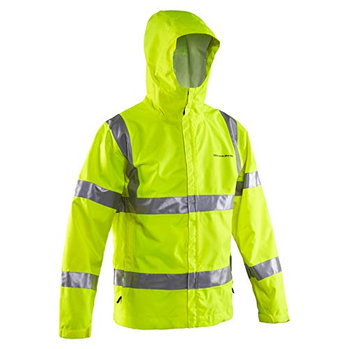 Grundns Weather Watch Hooded Fishing Jacket, Reflective Yellow - X-Small
