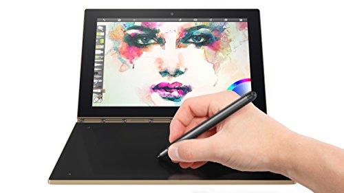 Lenovo Yoga Book - FHD 10.1' Android Tablet - 2 in 1 Tablet (Intel Atom x5-Z8550 Processor, 4GB RAM, 64GB SSD), Champagne Gold, ZA0V0091US
