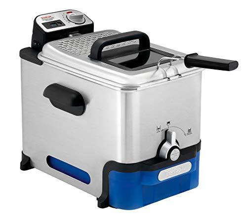 TEFAL OLEOCLEAN 3,5L Filtration automatique de l'huile Mineur digital Hublot de contrôle Thermostat réglable Boite de stockage d'huile, Inox FR804015