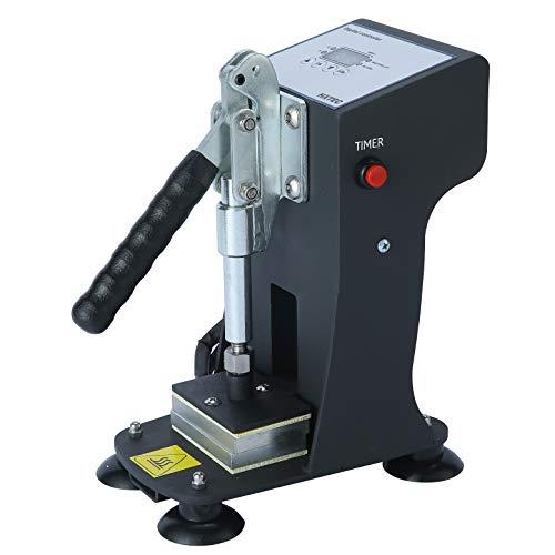 Mini Manual Heat Press Machine 1000lbs Max Down Force Hot Presser 2x3 Inch Dual Heating Plates LCD Controller 300W Shirt Heat Press Transfer Sublimation Press Machine, Black