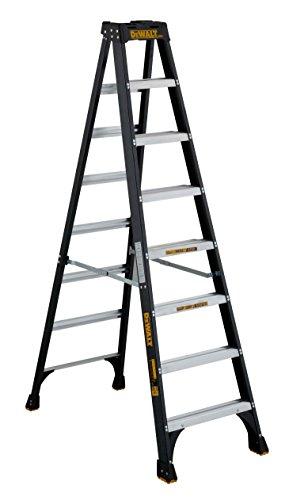 DeWalt 8-Feet Fiberglass Stepladder, 300-Pound...
