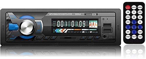 SOUND FIRE WITH DEVICE FIRE High Power Dual USB Ports/Bluetooth/Hands Free Calling/FM/AUX Input/SD Card Slot/Remote Control/LCD Display/ID3 with EQ/Bass/Treble/Balance & Fader Control Car Stereo