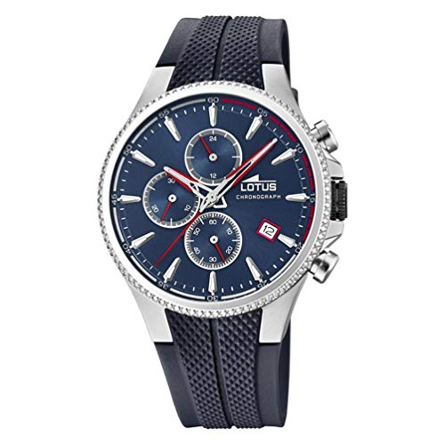 Lotus Herren Chronograph Quarz Uhr mit Gummi Armband 18621/1