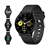 Evershop Smart Watch with 1.2 inch Full Touch Screen-IP68 Waterproof Fitness Watch with Heart Rate Monitor Compass Sleep Tracker for iOS Android