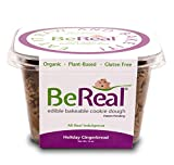 BeReal Doughs Edible and Bakeable Cookie Dough | Organic Gluten-Free and Plant-Based, Ready to Eat and Bakeable Vegan Chocolate Chip Cookie Dough | Allergen Friendly | Holiday Gingerbread |16 Oz