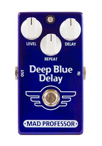 """Mad Professor Deep Blue Delay Stompbox Effect Pedal w/ 2x 6"""" Patch Cables NEW"""