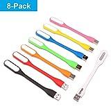 EBYPHAN 8-Pièce Lampe LED USB, Mini Lumière USB Flexible, Lampe Clavier...