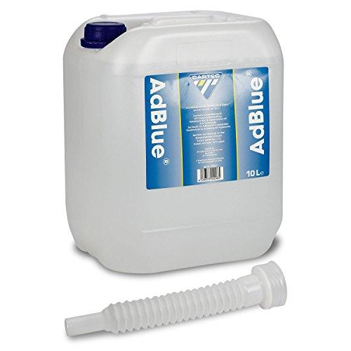 Cartec 99231 AdBlue Hochreiner Harnstoff zur Abgasnachbehandlung, mit Einfüllhilfe, 10 L