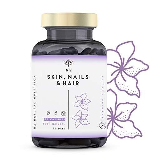 Biotina Zinc Selenio. Vitaminas Cabello Piel Uñas Potente S