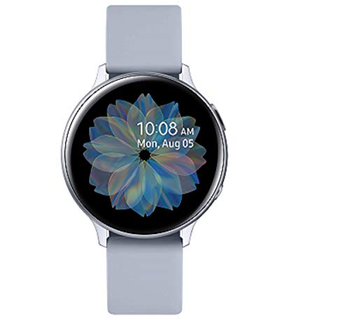 Samsung Galaxy Watch Active2 Explorer Edition, Fitnesstracker aus Aluminium, großes Display, ausdauernder Akku, wassergeschützt, 40 mm, inklusive 2x araree , Silber