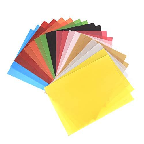 ewtshop 20 Blatt buntes Transparentpapier, 10, DIN A4, 100 g/qm, Pergamentpapier zum Basteln, Verpacken, Scrapbooking