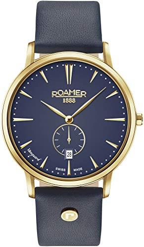 ROAMER Herren Analog Quarz Uhr mit Leder Armband 980812 48 45 09